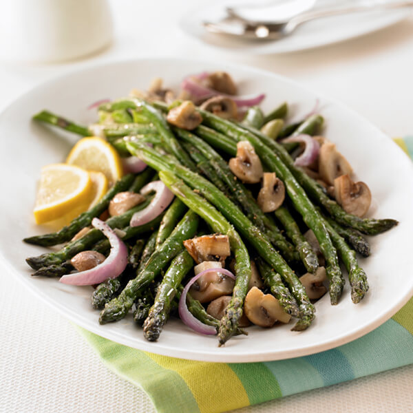 oven roasted asparagus mushrooms