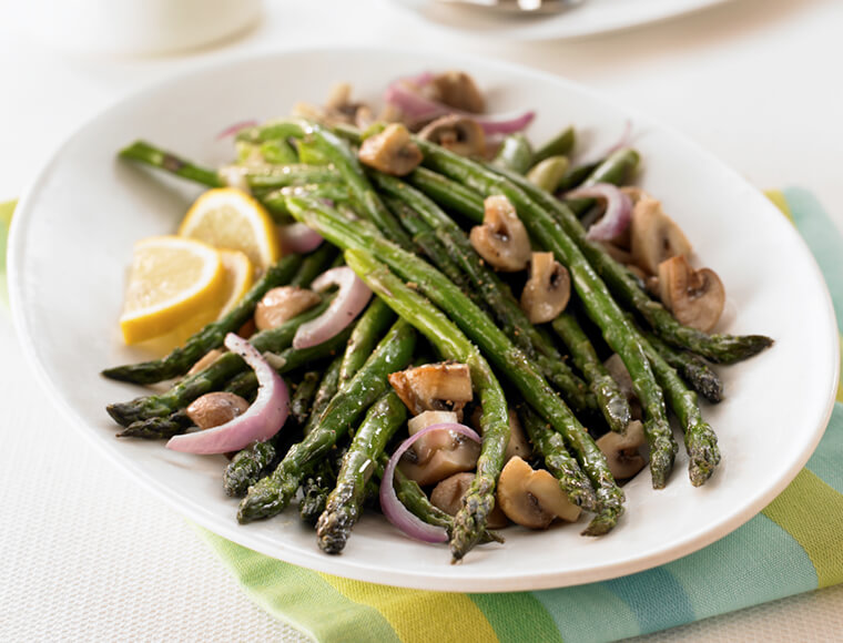 Oven Roasted Asparagus Mushrooms Recipe Land O Lakes