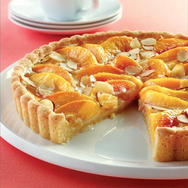 Peach Custard Tart Image