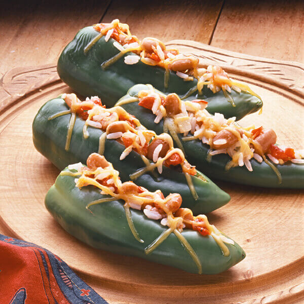 Rice & Bean Stuffed Anaheim Peppers Image