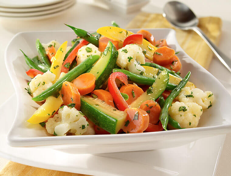Steamed Vegetables With Herb Stir-Ins Recipe | Land O'Lakes