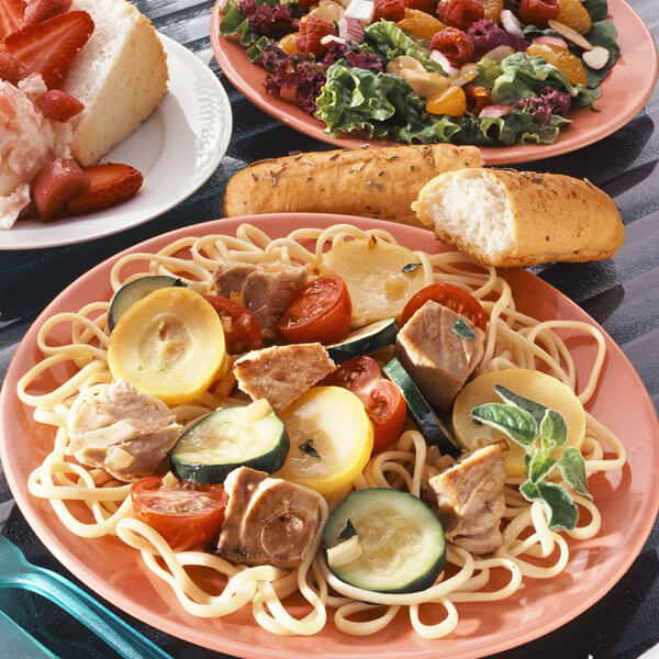 Linguine With Vegetables & Tuna recipe