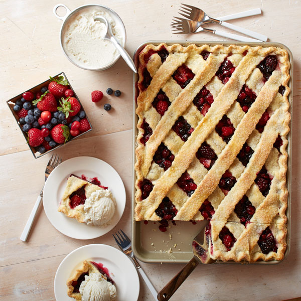 Mixed Berry Sheet Pan Pie recipe