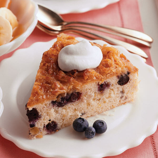 Blueberry Cake w Coconut Topping recipe