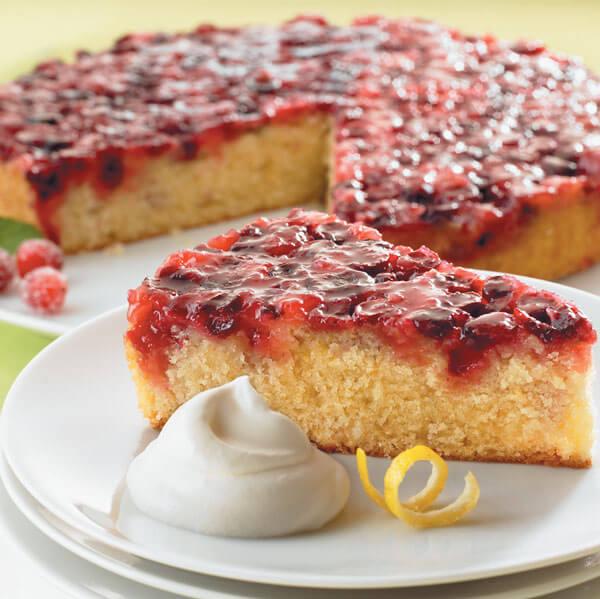 Festive Cranberry Upside-Down Cake Image