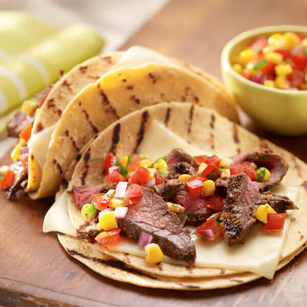 Grilled Flank Steak Tacos recipe
