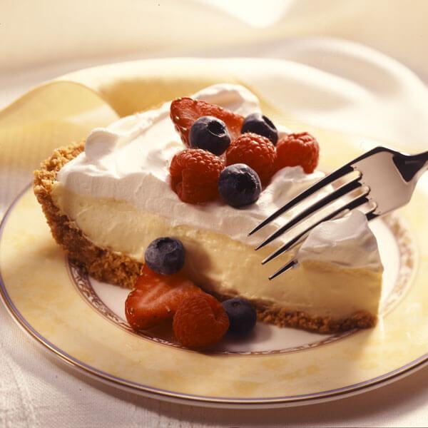 Lemon Cream Pie With Fresh Fruit recipe