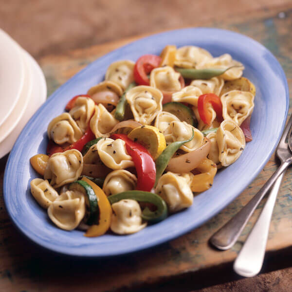 Roasted Vegetables With Tortellini recipe