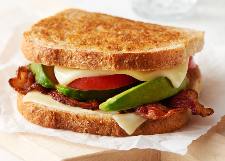 Bacon Avocado Grilled Cheese Sandwiches Recipe Land O Lakes