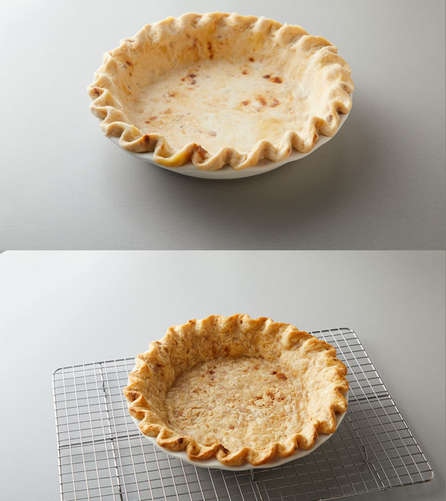 Unbaked and Baked Crusts