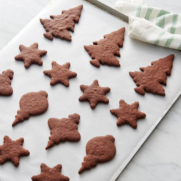 Christmas Cookies Recipes 2019.Dark Chocolate Christmas Cut Out Cookies