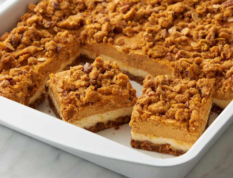 Pumpkin Pie Spice Cheesecake Squares Recipe Land O Lakes