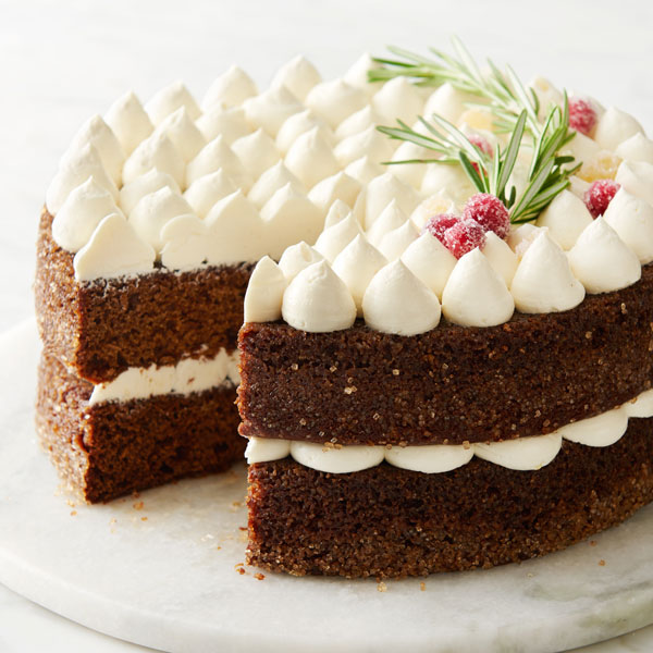 Gingerbread Cake with White Chocolate Swiss Meringue Frosting Recipe