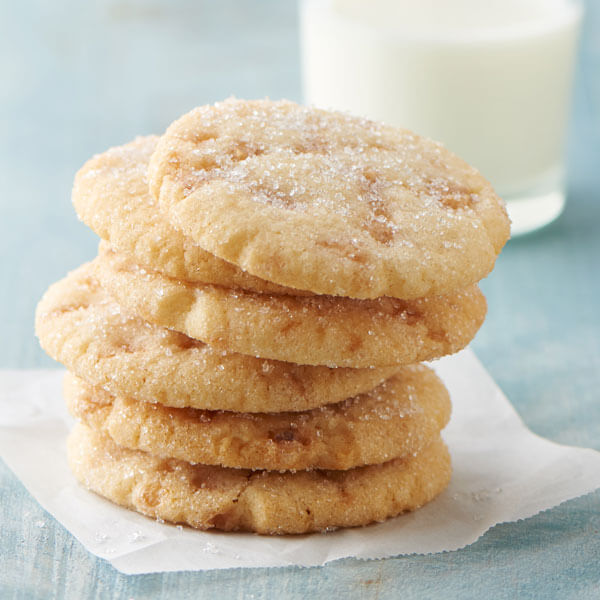 Sparkling Butter Toffee Cookies recipe