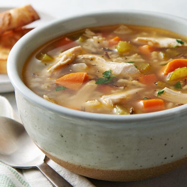 Super Easy Chicken & Rice Soup recipe