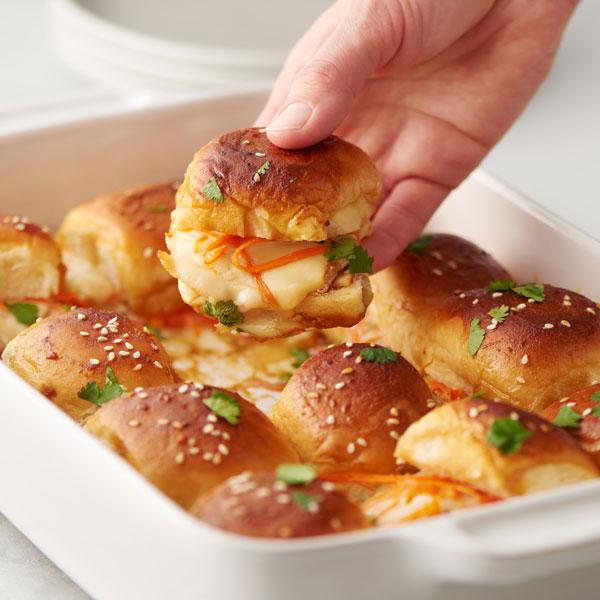 Glazed Sesame Chicken Party Sandwiches recipe