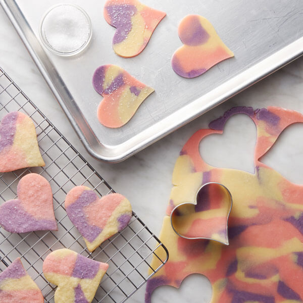 Pastel Marbled Hearts recipe