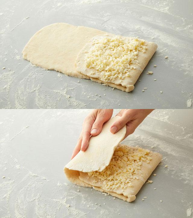 Folding Dough Down