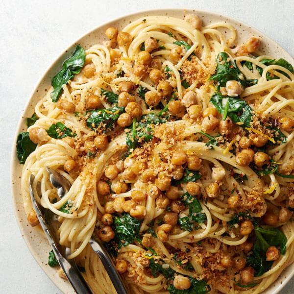 Chickpea and Spinach Pasta recipe
