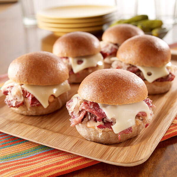 Slow Cooker Reuben Sliders Image