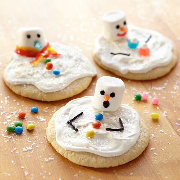 Sunny Day Snowman Cookies Recipe | Land O'Lakes