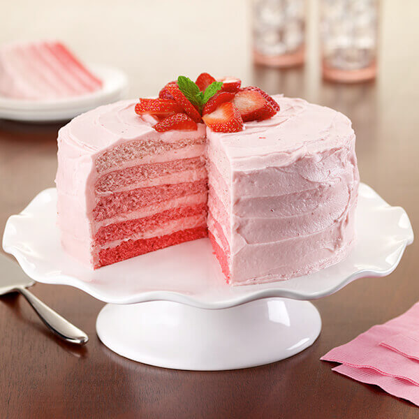 Strawberry Ombre Cake Image