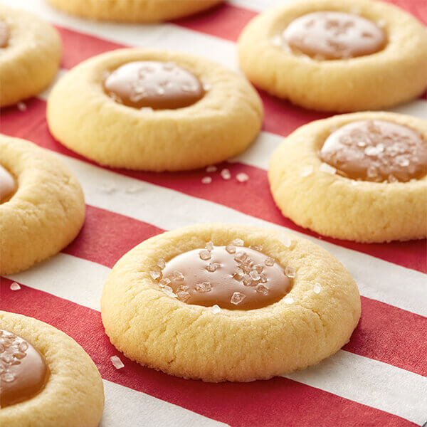 Salted Caramel Thumbprint Cookies Image