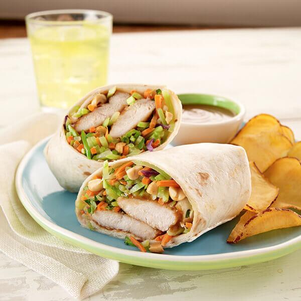 Thai Peanut Chicken Wrap Image