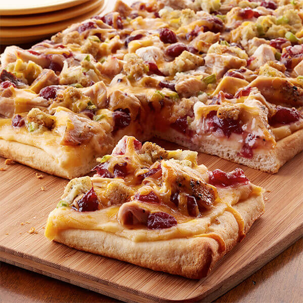 Thanksgiving Leftovers Pizza Image