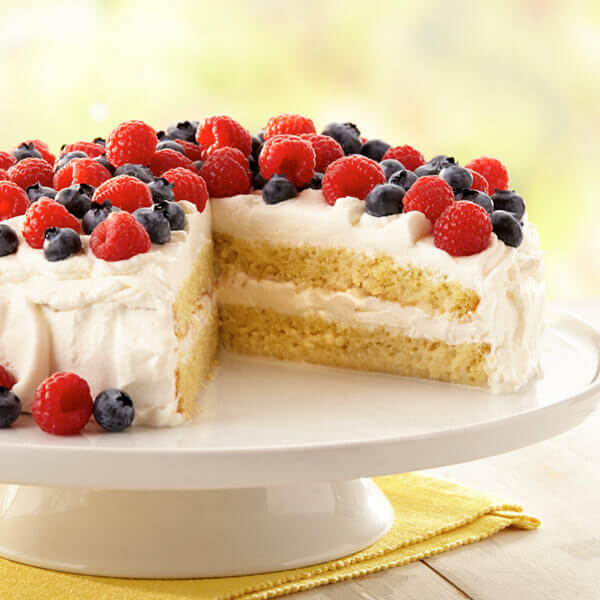 Tres Leches Cake With Berries Image