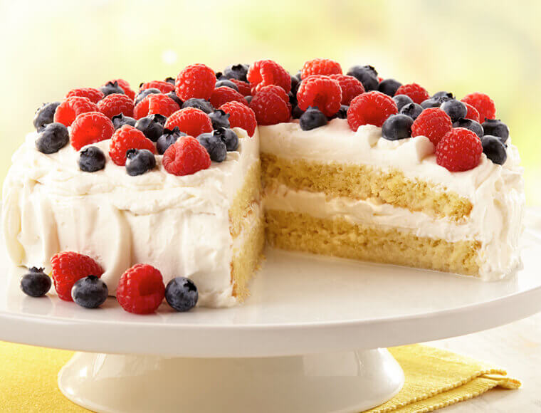 Astonishing Tres Leches Cake With Berries Recipe Land Olakes Funny Birthday Cards Online Alyptdamsfinfo
