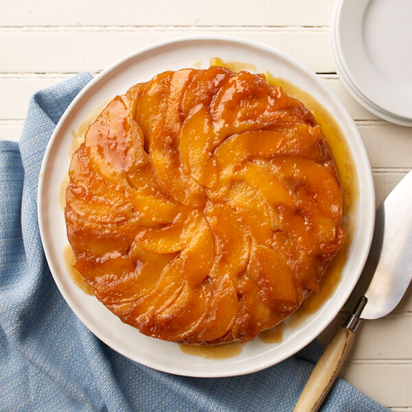 Ginger Peach Upside Down Cake