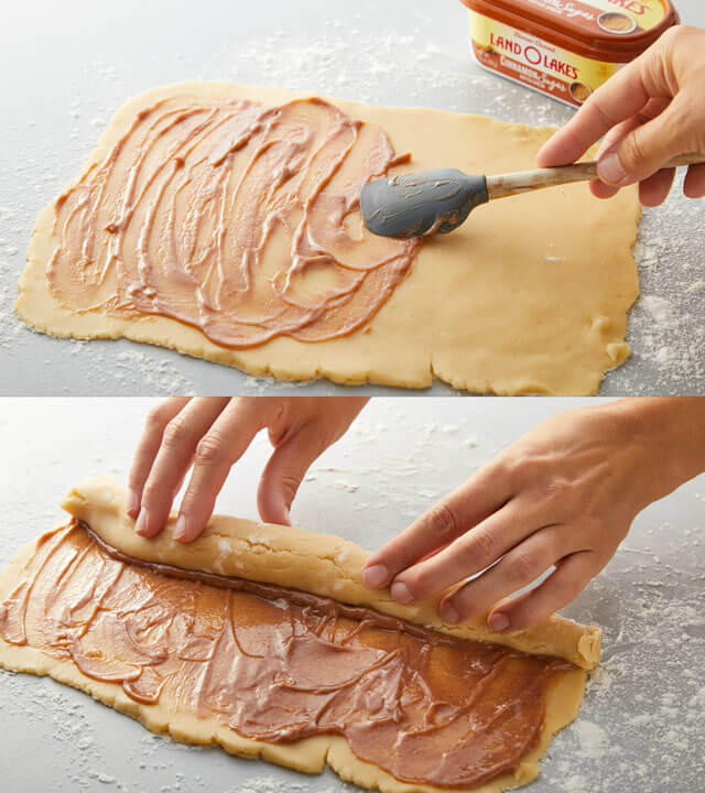 Filling and Rolling Dough