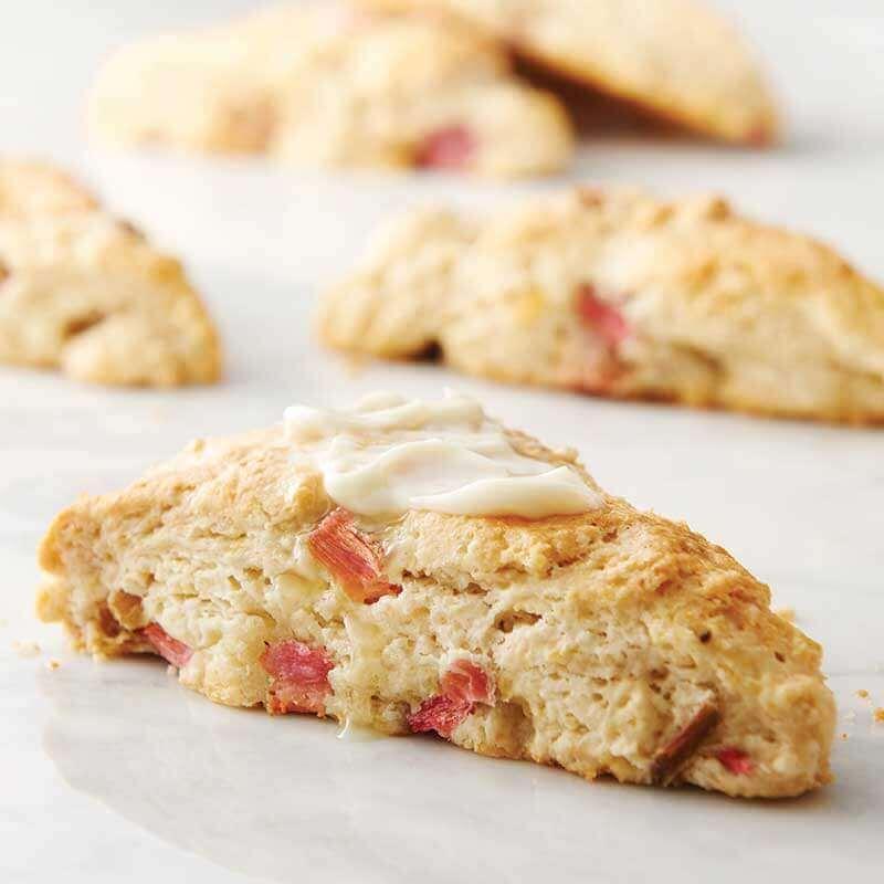 Rhubarb Ginger Cream Scones Image