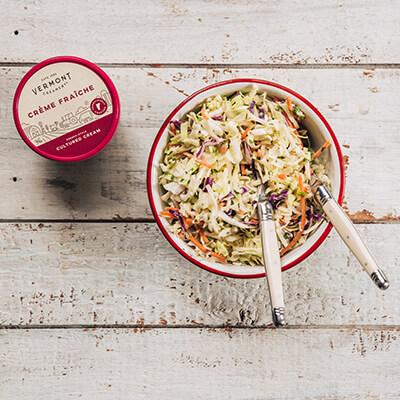 Coleslaw and Vermont Creamery cultured cream